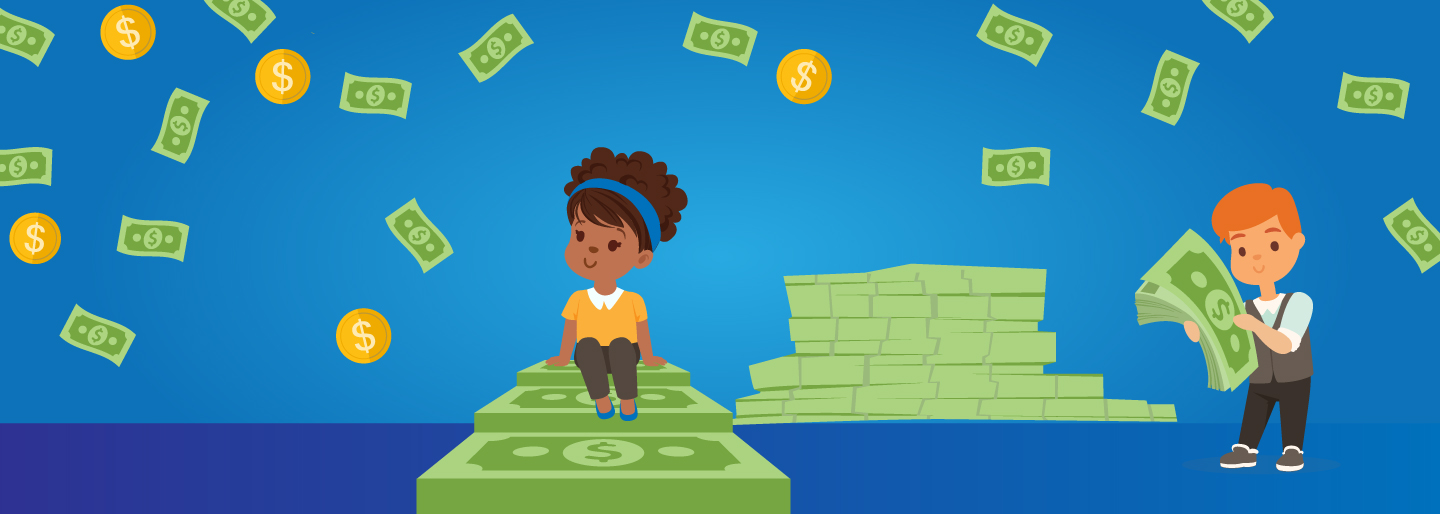 Blog hero image for teaching kids financial responsibility.
