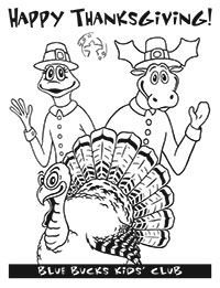 Thanksgiving coloring page image