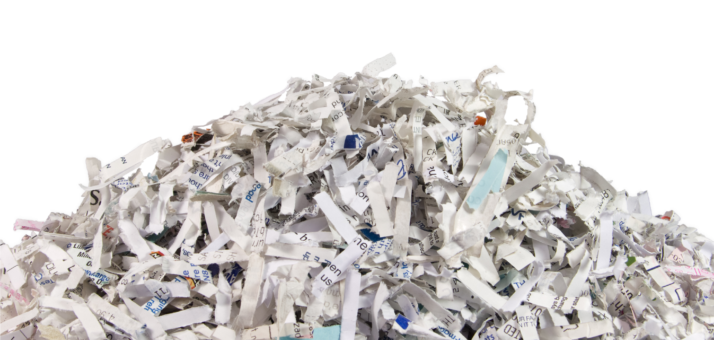 Image of a pile of shredded paper.